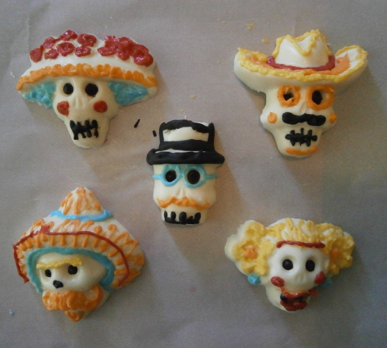 White Chocolate Sugar Skulls