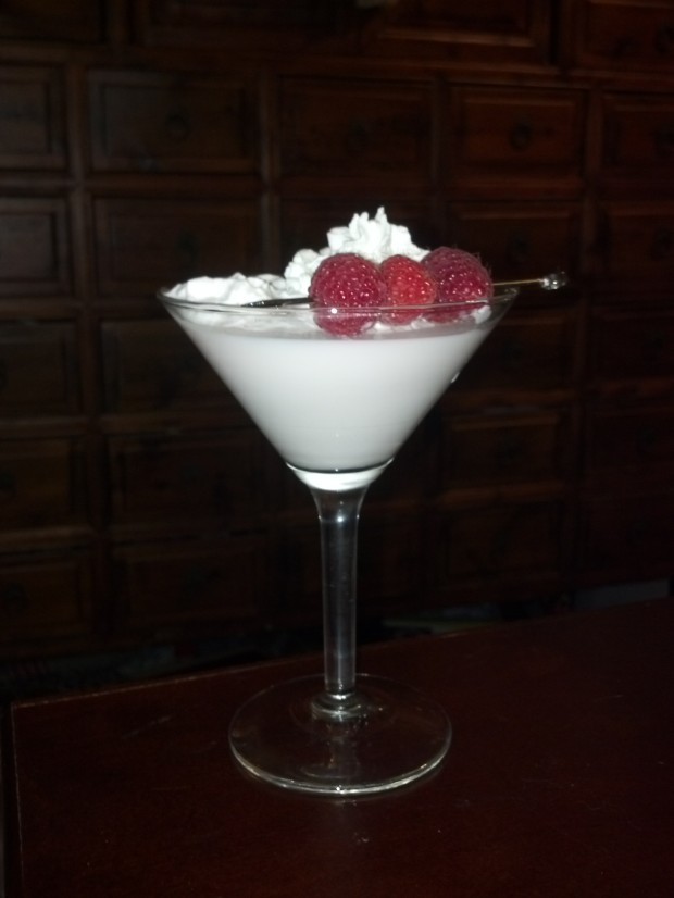 White Chocolate Raspberry Martini